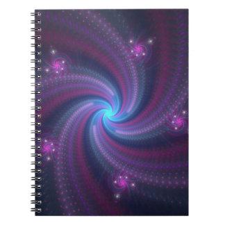 regnbågespiraler anteckningsbok