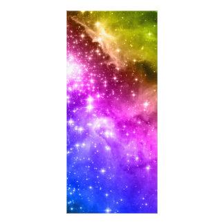 Regnbågestjärnor Reklamkort