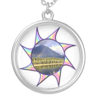 RegnbågeTwirl Silverpläterat Halsband