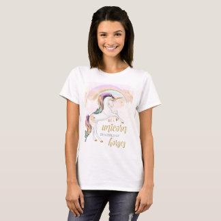 RegnbågeUnicornkvinna TShirt T Shirts