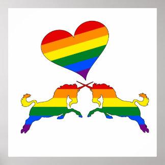 RegnbågeUnicorns Poster
