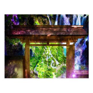 Regnbågeuniversum bana till paradiset vykort