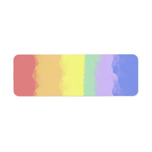 Regnbågevattenfärg Returadress Etikett