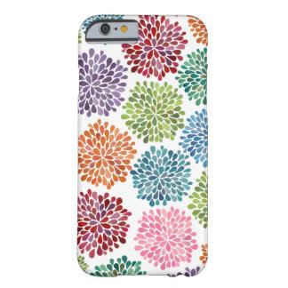 Regnbågevattenfärgdahliaen blommar fodral för barely there iPhone 6 fodral