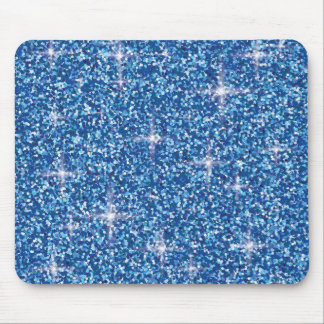 Regnbågsskimrande glitter för blått musmatta