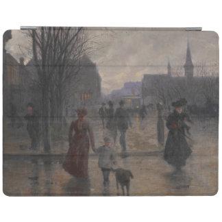 Regnig afton på den Hennepin avenyn, c.1902 iPad Skydd