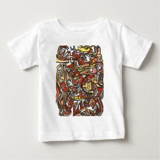 Regnig Dag-Abstrakt konst räcker målat T-shirts