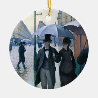 Regnig dag för Paris gata av Gustave Caillebotte Julgranskula