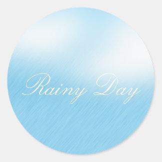 Regnig dag runt klistermärke