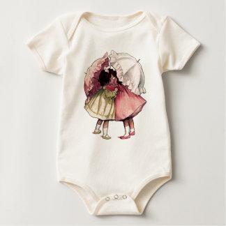 Regniga dagflickor för vintage body för baby