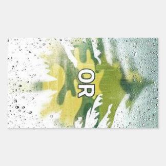 Regniga Oregon Rektangulärt Klistermärke