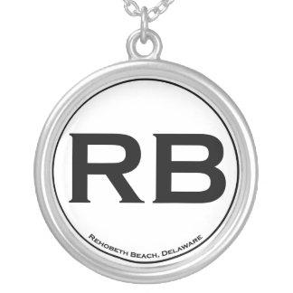 Rehoboth strandsterling silver silverpläterat halsband