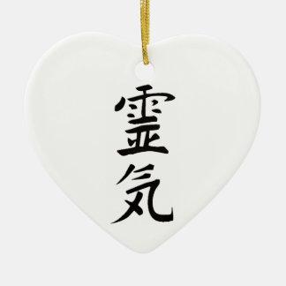 Reiki från hjärtan julgransprydnad keramik