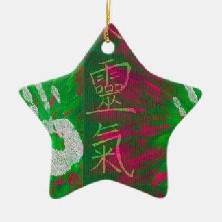 Reiki - Healings räcker Julgransprydnad Keramik
