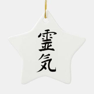 Reiki Kanji Julgransprydnad Keramik