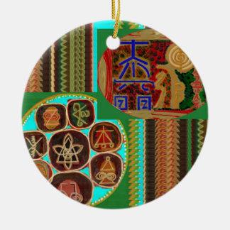 REIKI Karuna som läker GÅVOR 99 för Julgransprydnad Keramik