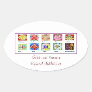 Reiki ledar- verktyg - presentartiklar för ovalt klistermärke