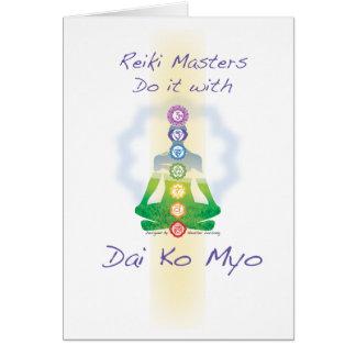 Reiki Masters gör det med Dai Ko Myo Hälsningskort