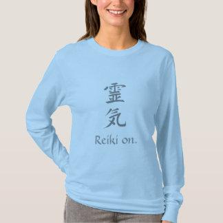 """""""Reiki på"""" damlångärmaden T-shirts"""