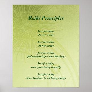 Reiki principer poster