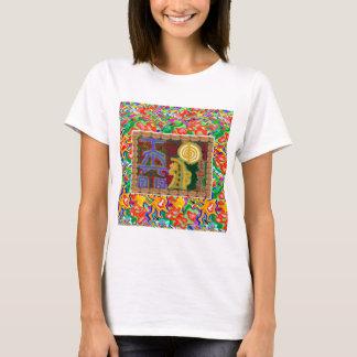 Reiki som läker dekorativ konst för symboler t shirt