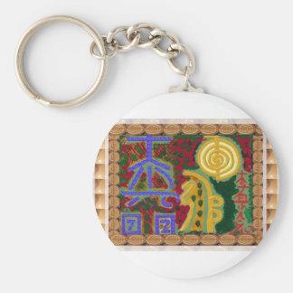 Reiki som läker symboler av den Navin Joshi Rund Nyckelring