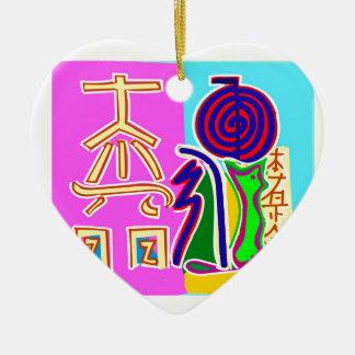 Reiki symbolkonst av Navin Joshi Julgransprydnad Keramik