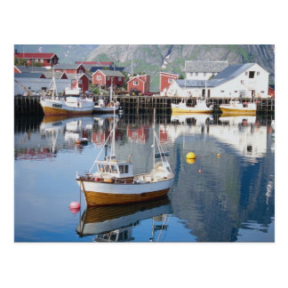 Reine fiskeläge, Lofoten, norge Vykort