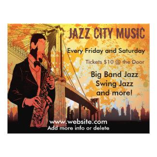 Reklamblad för Jazzkonsertmusik Reklamblad 21,5 X 30 Cm