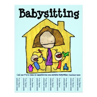 Reklamblad för lakan för babybarnvaktreva reklamblad 21,5 x 30 cm