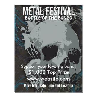 Reklamblad för metallfestivalmusik reklamblad 21,5 x 30 cm