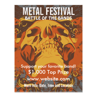 Reklamblad för musik för metallfestival 2 reklamblad 21,5 x 30 cm