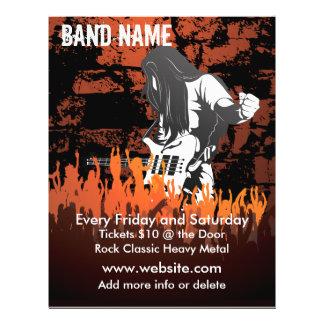 Reklamblad för musikbandkonsertmusik reklamblad 21,5 x 30 cm