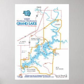 reko karta för storslagen sjö poster