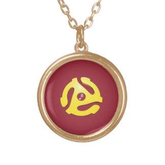 Rekord- adapterhänge (anpassadefärger) guldpläterat halsband