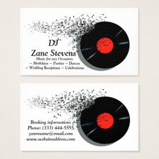 Rekord för vinyl för DeeJayDJ-diskjockey Visitkort