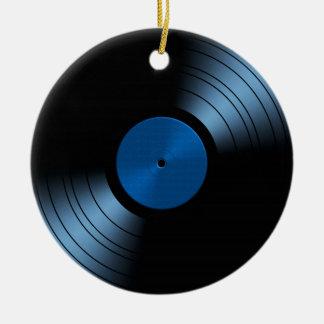 Rekord- mycket Retro album för vinyl - Julgransprydnad Keramik