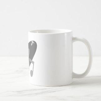 Rekord- Retro musik noterar grå färg Kaffe Muggar