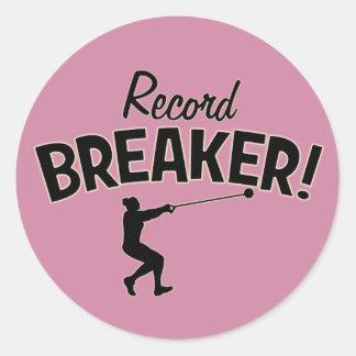 Rekord- säkerhetsbrytare! Bulta kastklistermärkear Runt Klistermärke