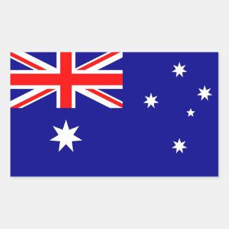 Rektangelklistermärke med flagga av Australien Rektangulärt Klistermärke