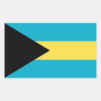 Rektangelklistermärke med flagga av Bahamas Rektangulärt Klistermärke