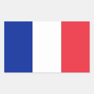 Rektangelklistermärke med flagga av frankriken rektangulärt klistermärke