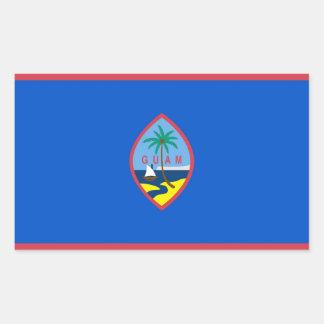 Rektangelklistermärke med flagga av Guam, USA Rektangulärt Klistermärke