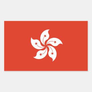 Rektangelklistermärke med flagga av Hong Kong, Rektangulärt Klistermärke