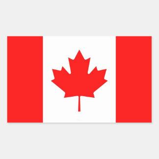 Rektangelklistermärke med flagga av Kanada Rektangulärt Klistermärke