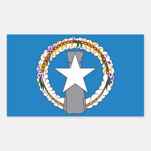 Rektangelklistermärke med flagga av nordliga Maria Retangel Klistermärke