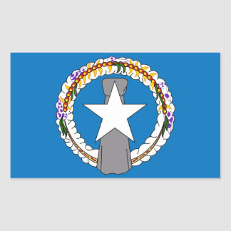 Rektangelklistermärke med flagga av nordliga rektangulärt klistermärke