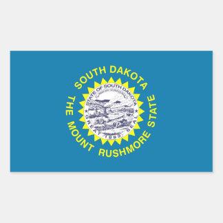 Rektangelklistermärke med flagga av South Dakota Rektangelformade Klistermärken