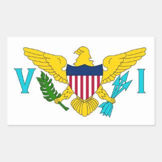 Rektangelklistermärke med flagga av Virgin Islands Rektangulärt Klistermärke