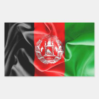 Rektangulär klistermärke för Afghanistan flagga